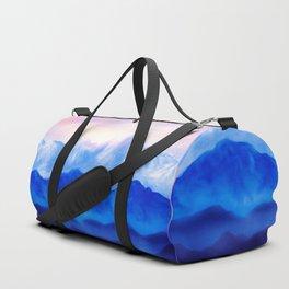 Blue landscape Duffle Bag