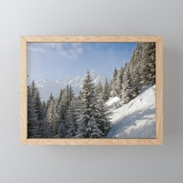 Courchevel 3 Valleys Alps France Framed Mini Art Print