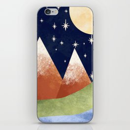 Full Moon In The Mountains iPhone Skin