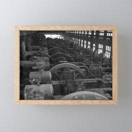 Bethlehem Steel, Blowing Engine House- black and white Framed Mini Art Print