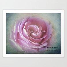A Rose in the Heart of a Rose Art Print