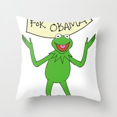 Muppets for Obama Throw Pillow