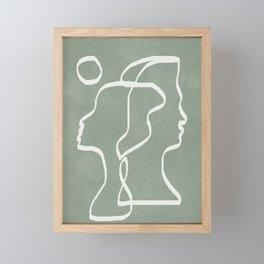 Abstract Faces Framed Mini Art Print