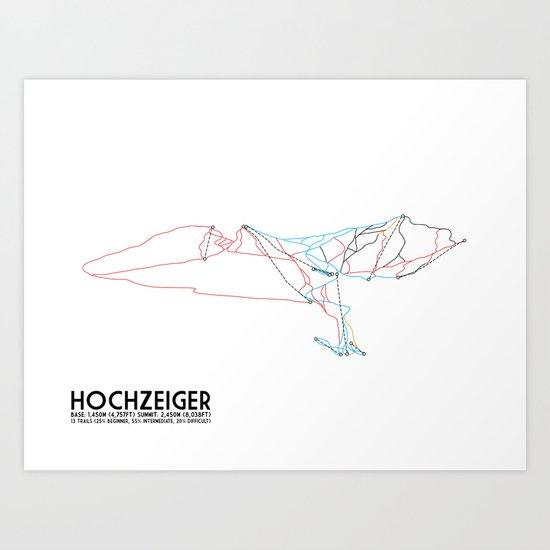 HochZeiger, Tyrol, Austria - European Edition - Minimalist Trail Art Art Print