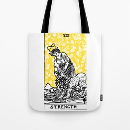 Floral Tarot Print - Strength Tote Bag
