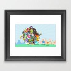 Adventure Time - Land of Ooo Katamari Framed Art Print