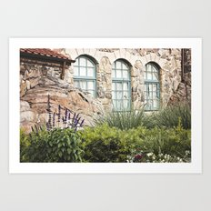 Stone Cottage Art Print