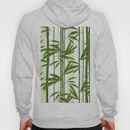 Green bamboo tree shoots pattern Hoody