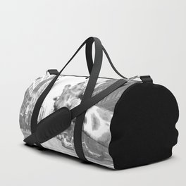 Black and White Selfie Giraffe in NYC Duffle Bag