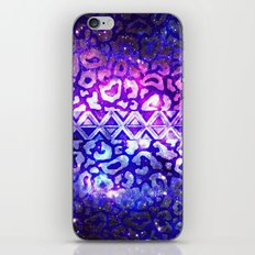 TRIBAL LEOPARD GALAXY Animal Print Aztec Native Pattern Geometric Purple Blue Ombre Space Galactic iPhone & iPod Skin