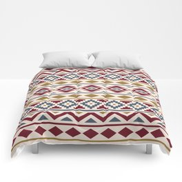 Aztec Essence Ptn III Red Blue Gold Cream Comforters