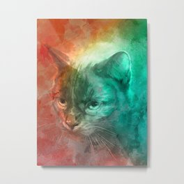 Hidden Cat Feeling Metal Print