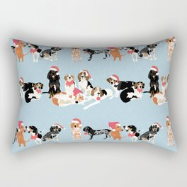 Coonhound Holiday Rectangular Pillow