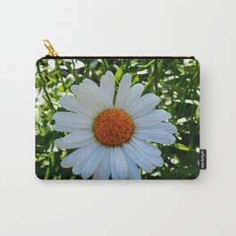 Single White Daisy Carry-All Pouch