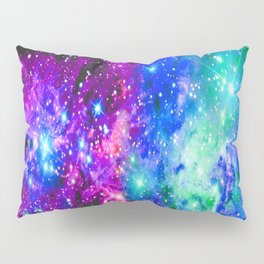 Fox Fur Nebula Galaxy Pink Purple Blue Pillow Sham