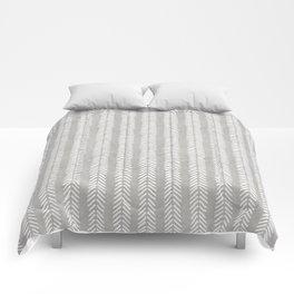 Mud cloth - Grey Arrowheads Comforters