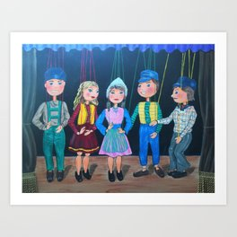 """Five Marionette Friends"" Art Print"