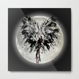 Moonlight Phoenix Metal Print