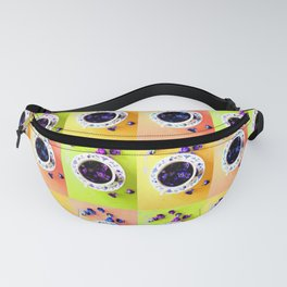 Tea Cups and Violets Fanny Pack