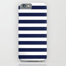 Stripe Horizontal Navy Blue Slim Case iPhone 6