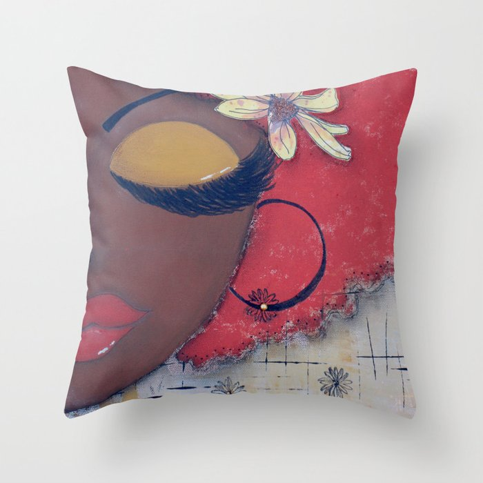 Chocolate Sassy Girl Throw Pillow