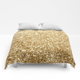 Gold glitter Comforters