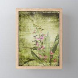Decorative Green Floral Framed Mini Art Print