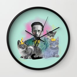 Schrödinger's Birthday Party Wall Clock