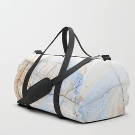 Cotton Latte Marble - Ombre blue and ivory Duffle Bag