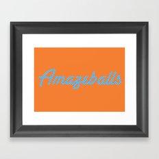 Amazeballs Orange Framed Art Print
