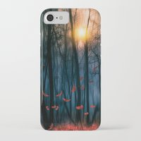 sunset iPhone & iPod Cases featuring Red feather dance  (colour option) by Viviana Gonzalez