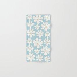 Floral Daisy Pattern - Blue Hand & Bath Towel