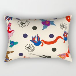 Rockabilly pinups 50's dots Rectangular Pillow