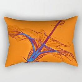 X-rayed Hibiscus  No. 4 Rectangular Pillow