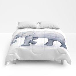 Elephant Watercolor Comforters
