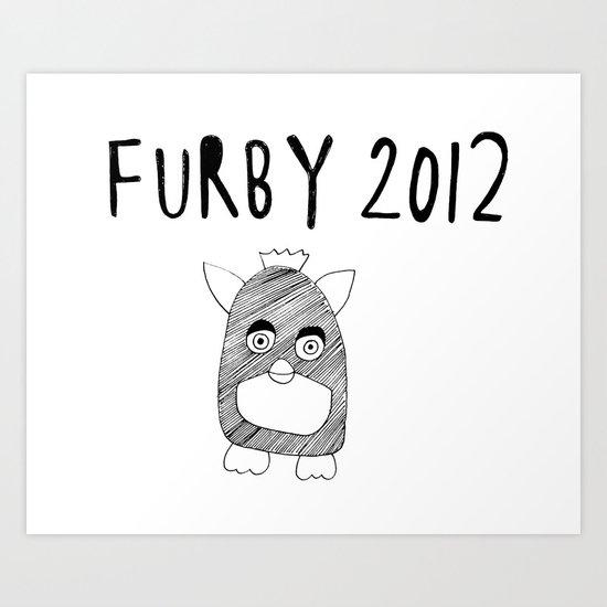 Furby 2012 Art Print