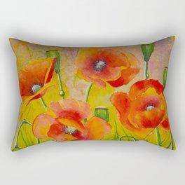 Poppies field fantasy Rectangular Pillow