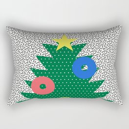Memphis Christmas Tree Rectangular Pillow