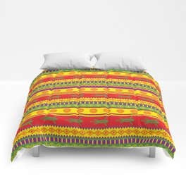 gecko mexican pattern Comforters