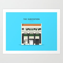 The Substation, Singapore [Building Singapore] Art Print