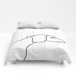 Minimal Dachshund Comforters