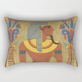 egyptian tutunkhamun pharaoh design Rectangular Pillow