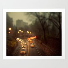 Taxicab Confessions - New York Art Print