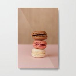 Pink Paris Macaroons Metal Print