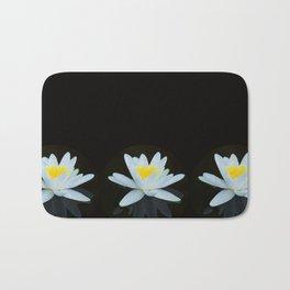 Waterlily Flowers On Black Background #decor #society6 #buyart Bath Mat