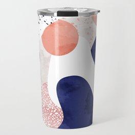 Terrazzo galaxy pink blue white Travel Mug