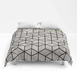 Random Concrete Cubes Comforters