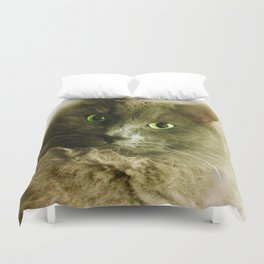 Wake up! Time to feed the Cat! Duvet Cover