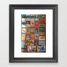 Marvelous Matchboxes Framed Art Print