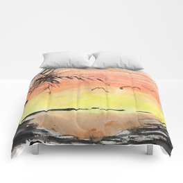 A Simple Sunset Comforters